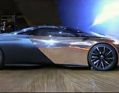 闪瞎钛合金眼 标致ONYX概念跑车高清实拍